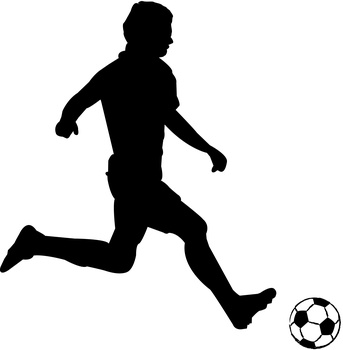 soccer player silhouette. soccer silhouettes image by