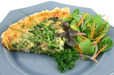 Mais oui! Quiche is a tasty way to cook with eggs.