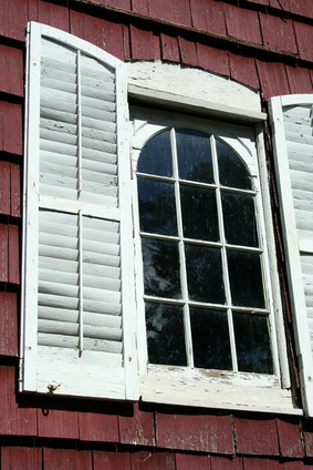 Diy exterior window shutters that are cheap ehow uk for Cheap window shutters interior