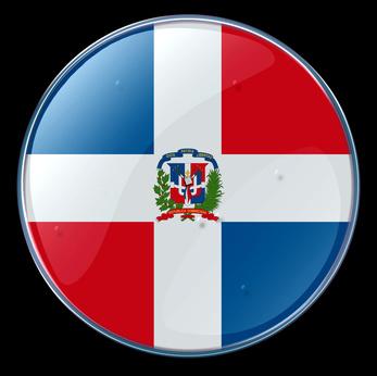 dominican republic flag button 2011