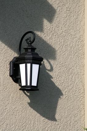 An Outdoor Light Fixture.