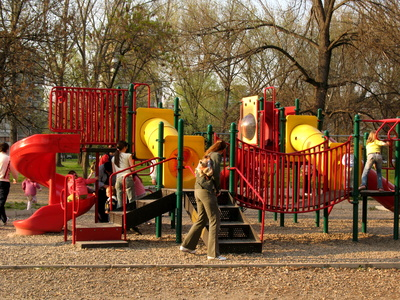 playgrounds for preschoolers. Children on a Playground