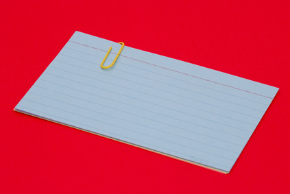 How to Print on Index Cards From Word