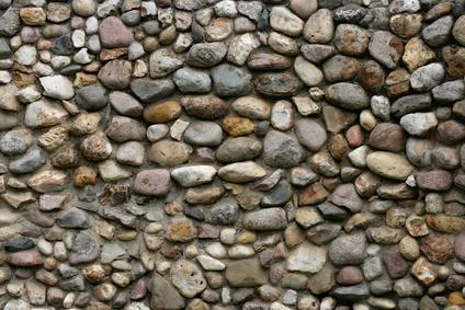 cmo construir un medio muro de piedra usando mortero - Muro De Piedra