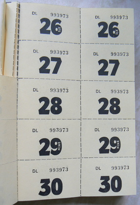 How to Print Numbered Tickets