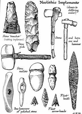 ferramentas para proj u00e9teis de pedra polida do neol u00edtico