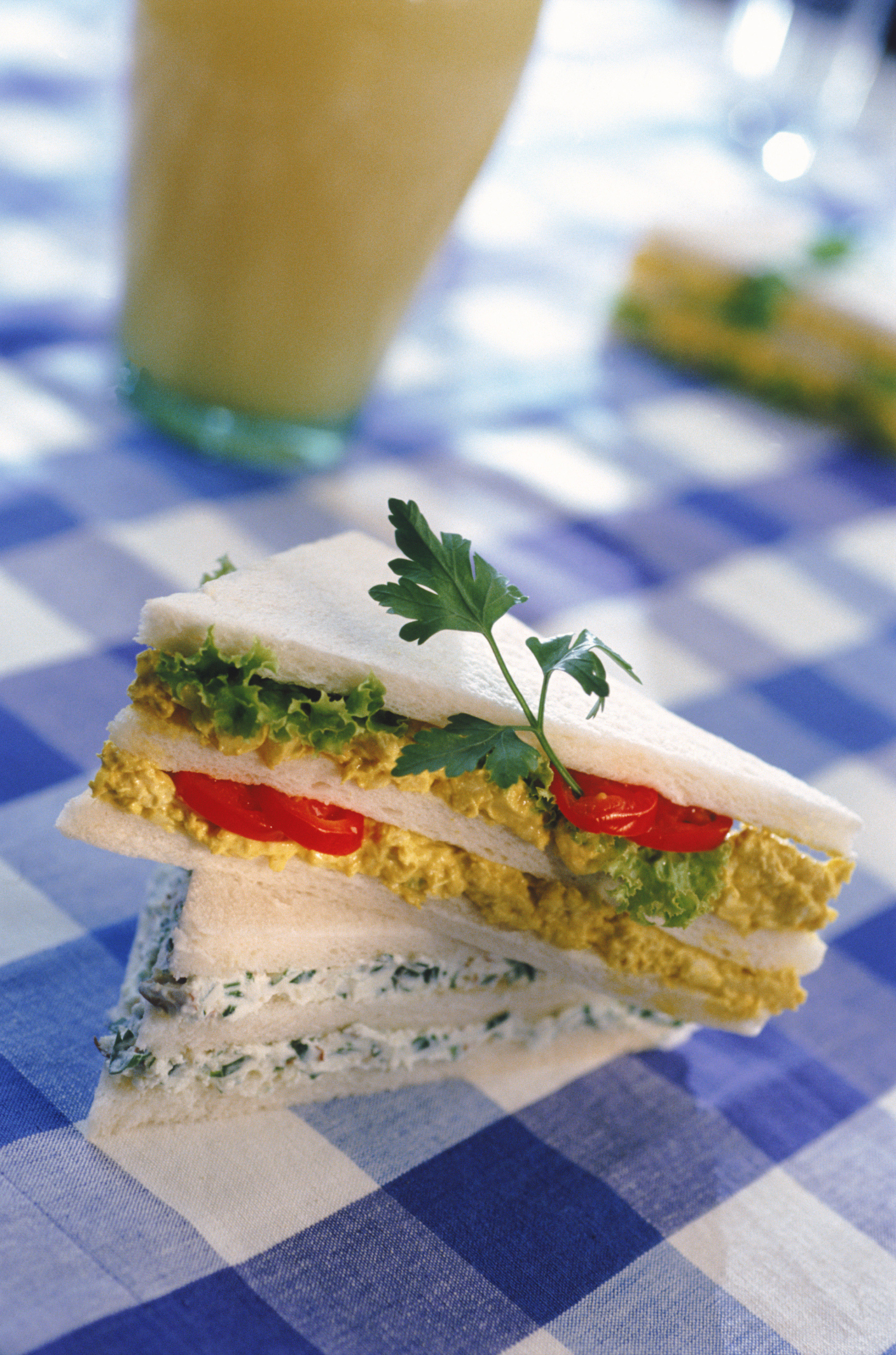 Egg salad can be tailored to your taste.
