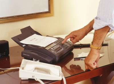 how to hook up fax machine