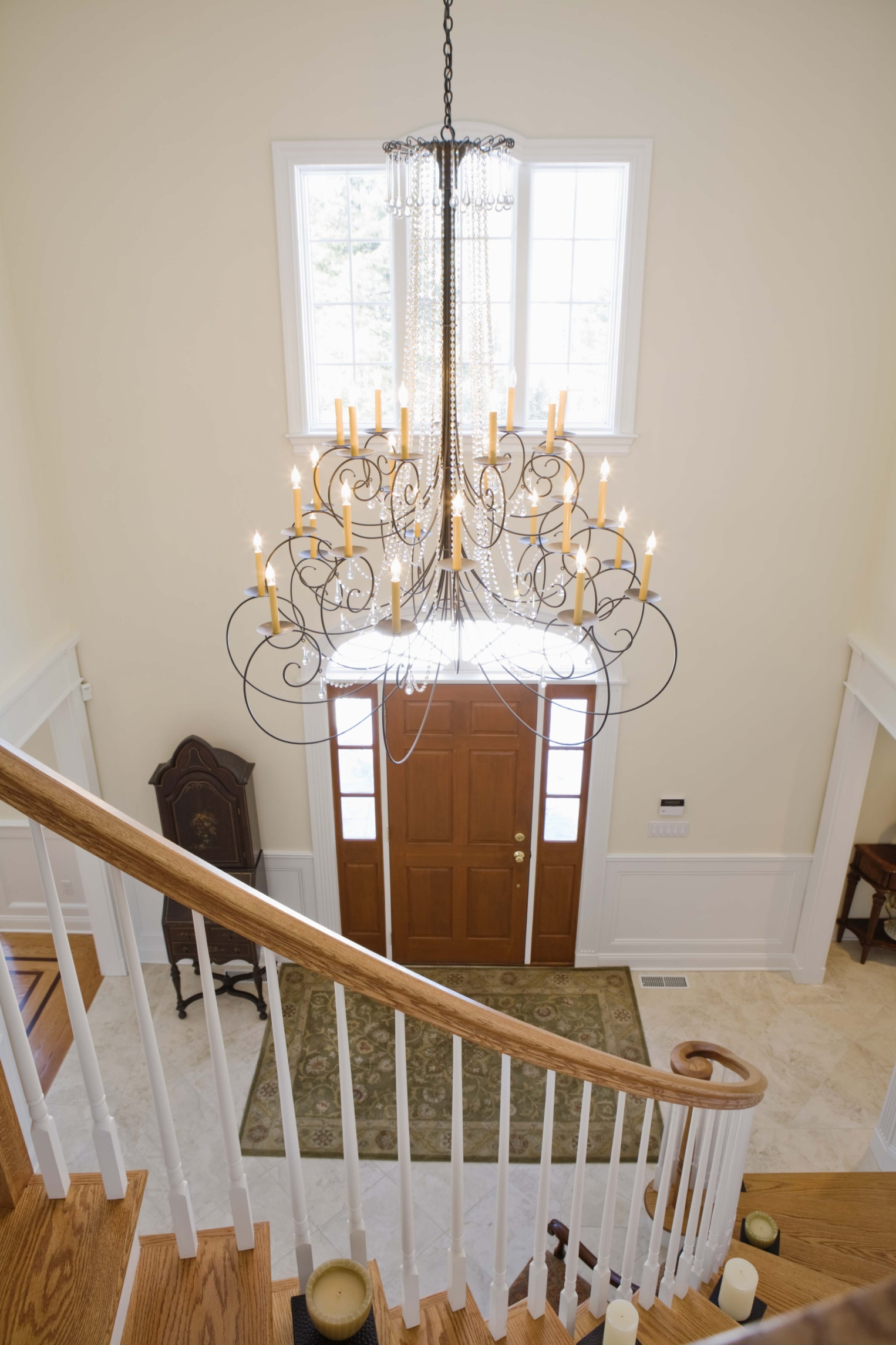 How to hang a chandelier from a sloped ceiling ehow