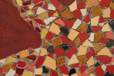 How To Make Mosaic Stepping Stones Made With Grout Amp Premade Stepping Stones Home Guides Sf Gate