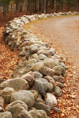 Decorative faux stone edging for Making a rock garden border