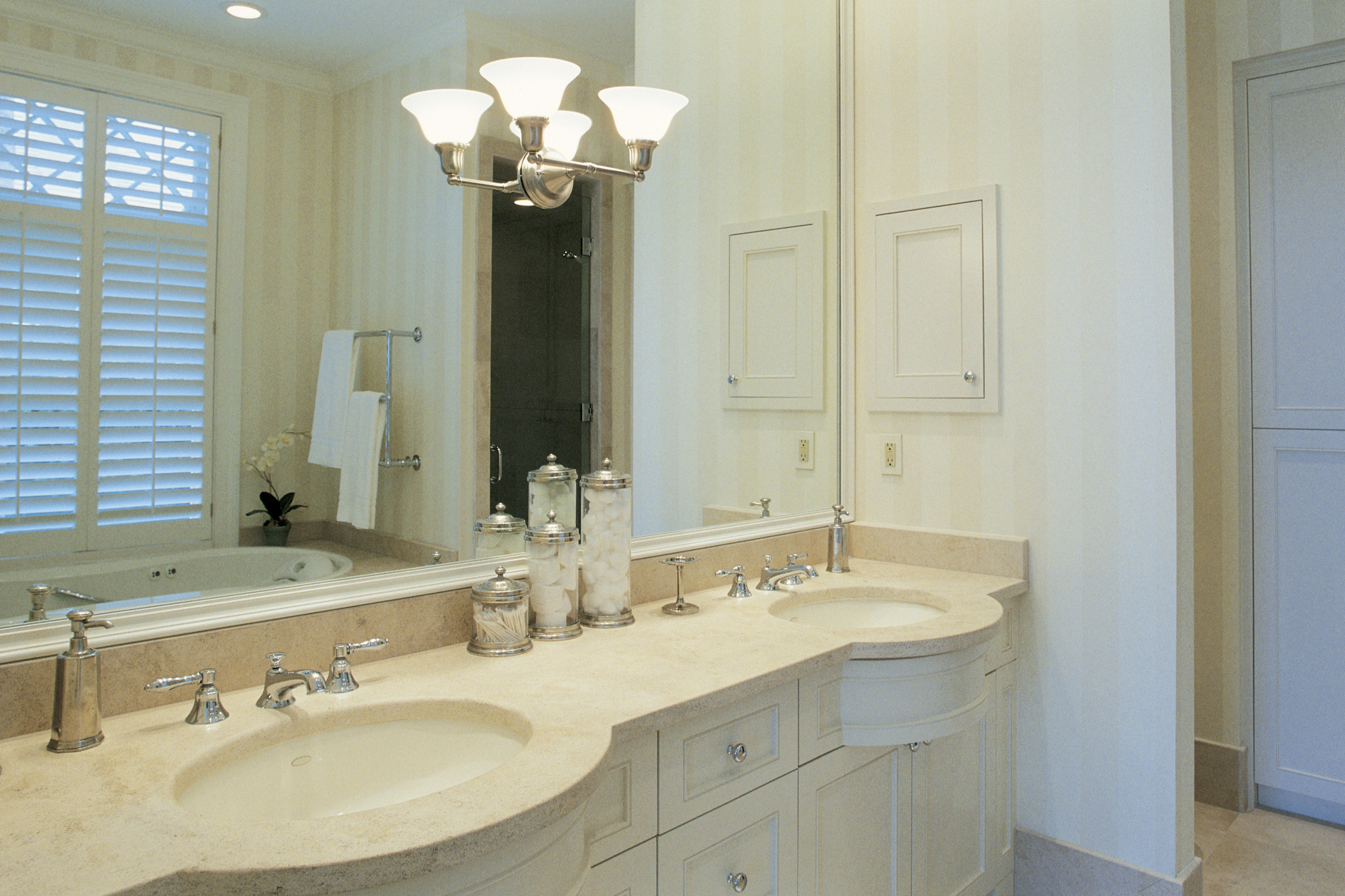 How To Replace Bathroom Vanity Lights Going From One Light Two Wiring A New Ehow