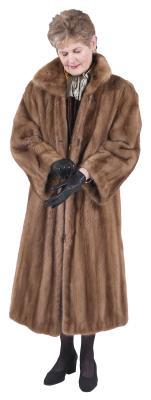A fur coat provides warmth.