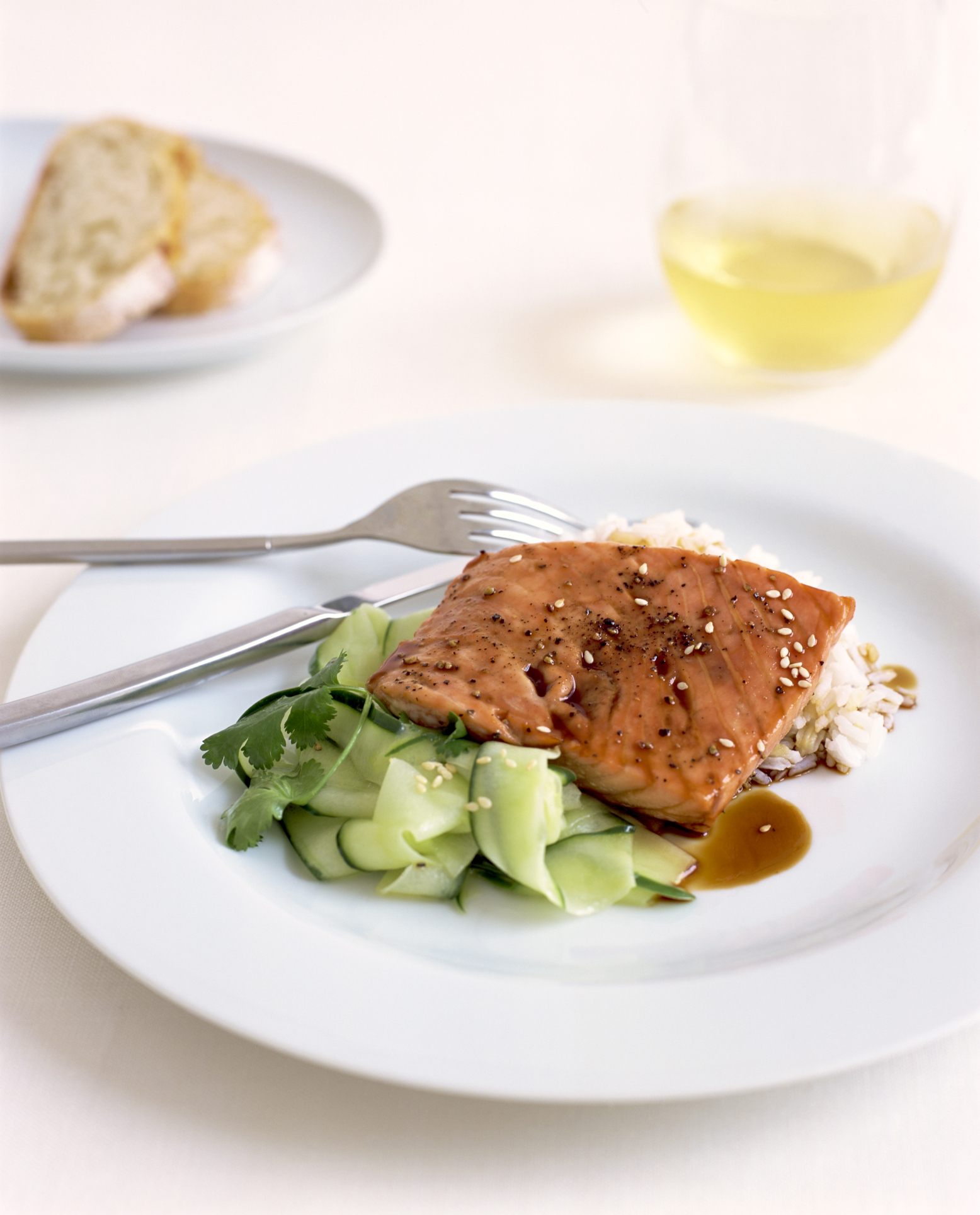 A salmon meal is a significant source of protein and potassium.