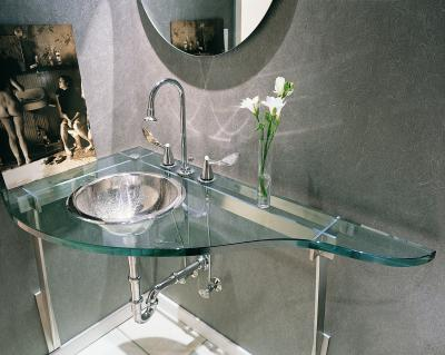 How to hide pipes under a hanging bathroom sink home for Lavabo en verre salle de bain
