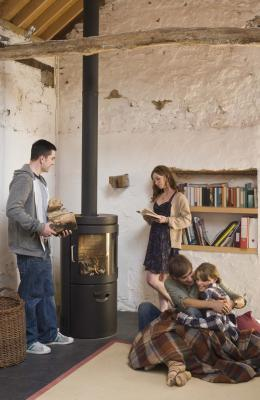 How To Install A Woodstove Chimney Ceiling Box Home