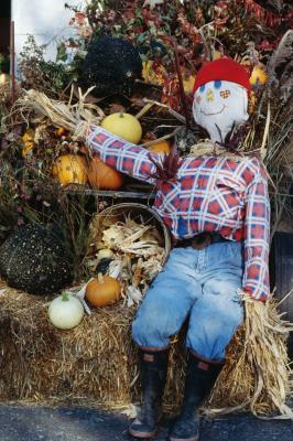 Fall harvest yard decoration ideas home guides sf gate for Scarecrow home decorations co ltd