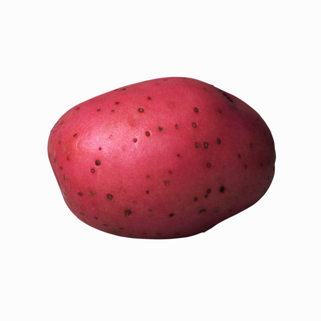 A medium-sized red potato contains nearly 34 grams of carbohydrates.