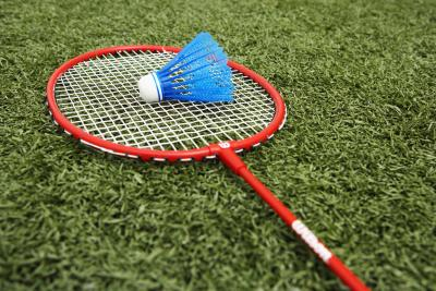Badminton Players Rackets a Badminton Racket And