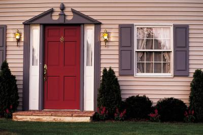 Window Treatments For Sidelights On A Front Door Home