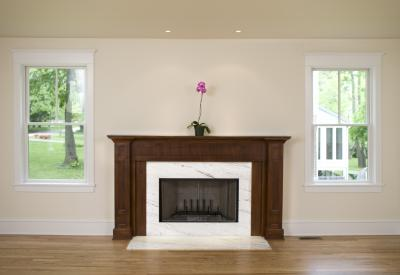 How To Decorate A Fireplace Flanked By Two Windows Home