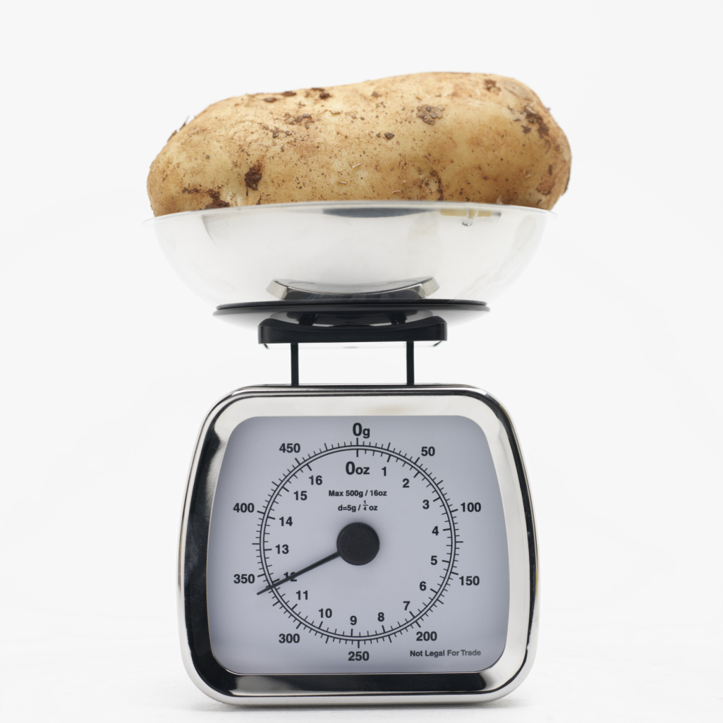 Potatoes are low in fat.