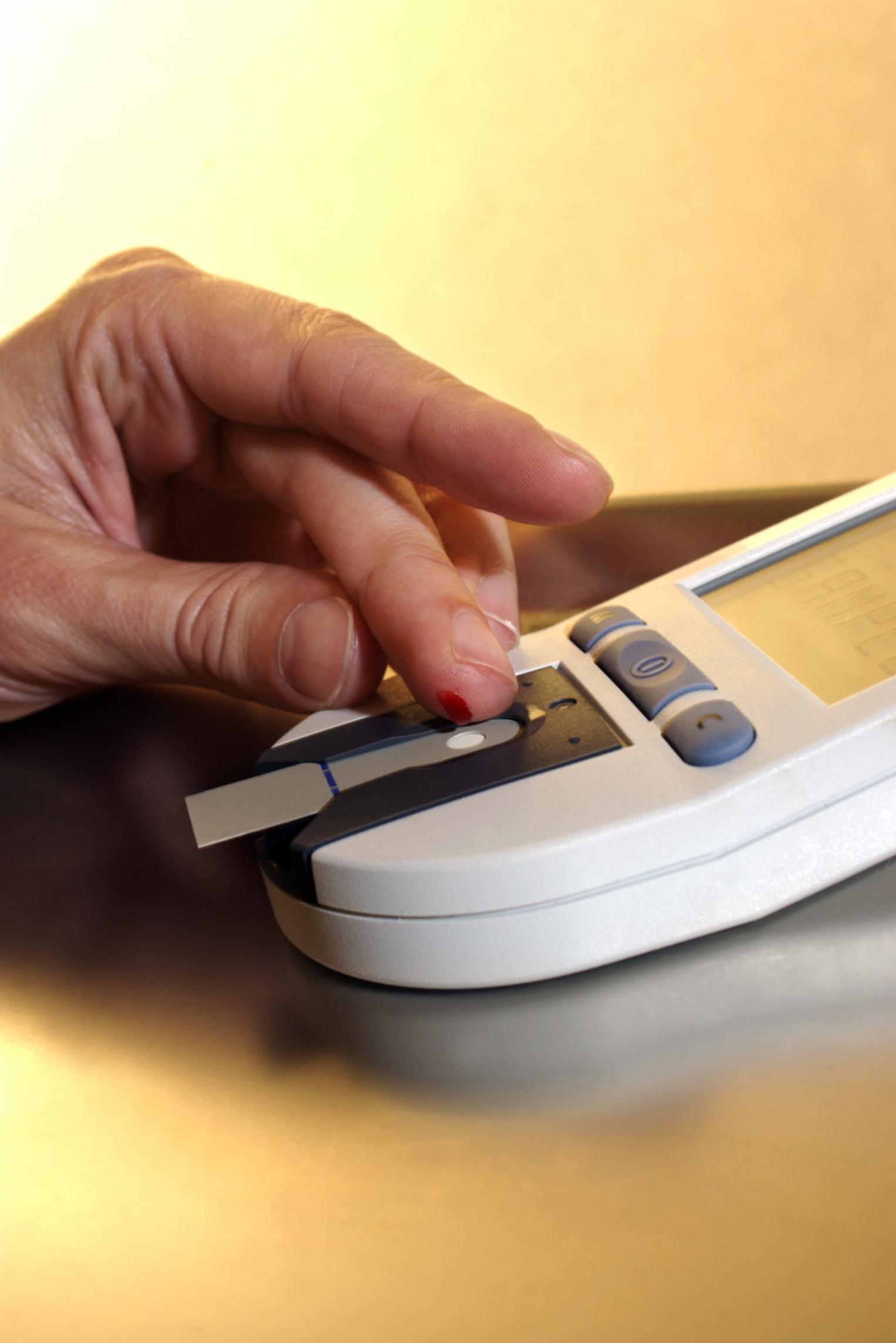 Careful monitoring of blood-sugar levels helps keep glucose level.