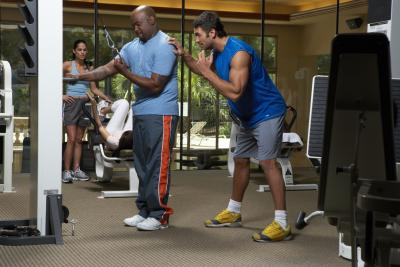 Triceps Push-Down: Straight Bar Vs. Rope   LIVESTRONG.COM  Tricep Pulldown Vs Pushdown