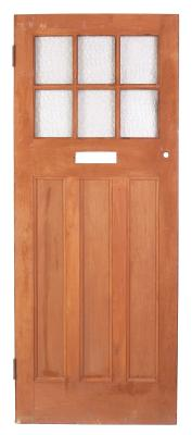 Build a wooden door to add elegance to your home.