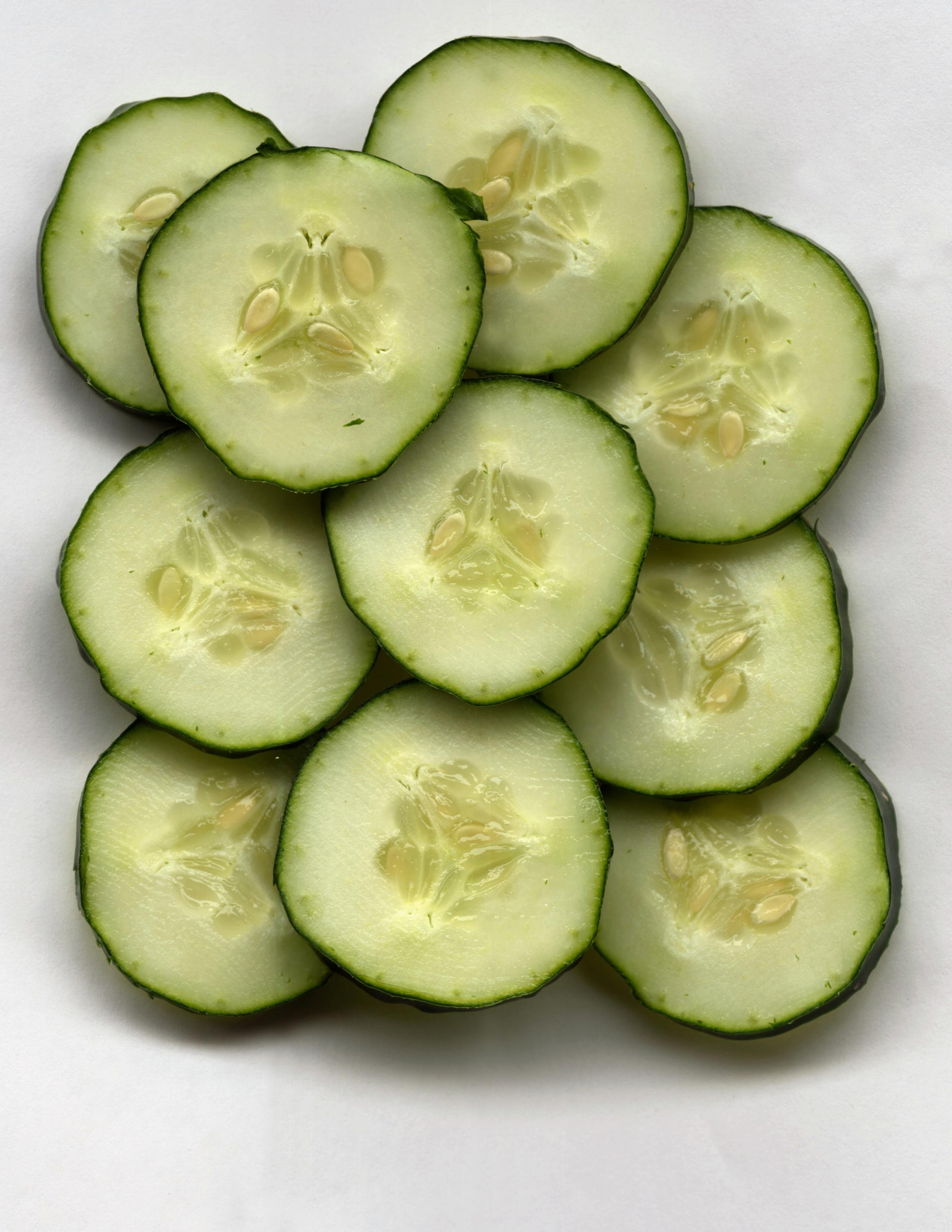 Cucumbers provide moderate amounts of fiber.