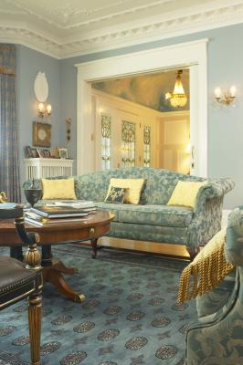 How To Decorate A Living Room With Soft Blue Amp Gold