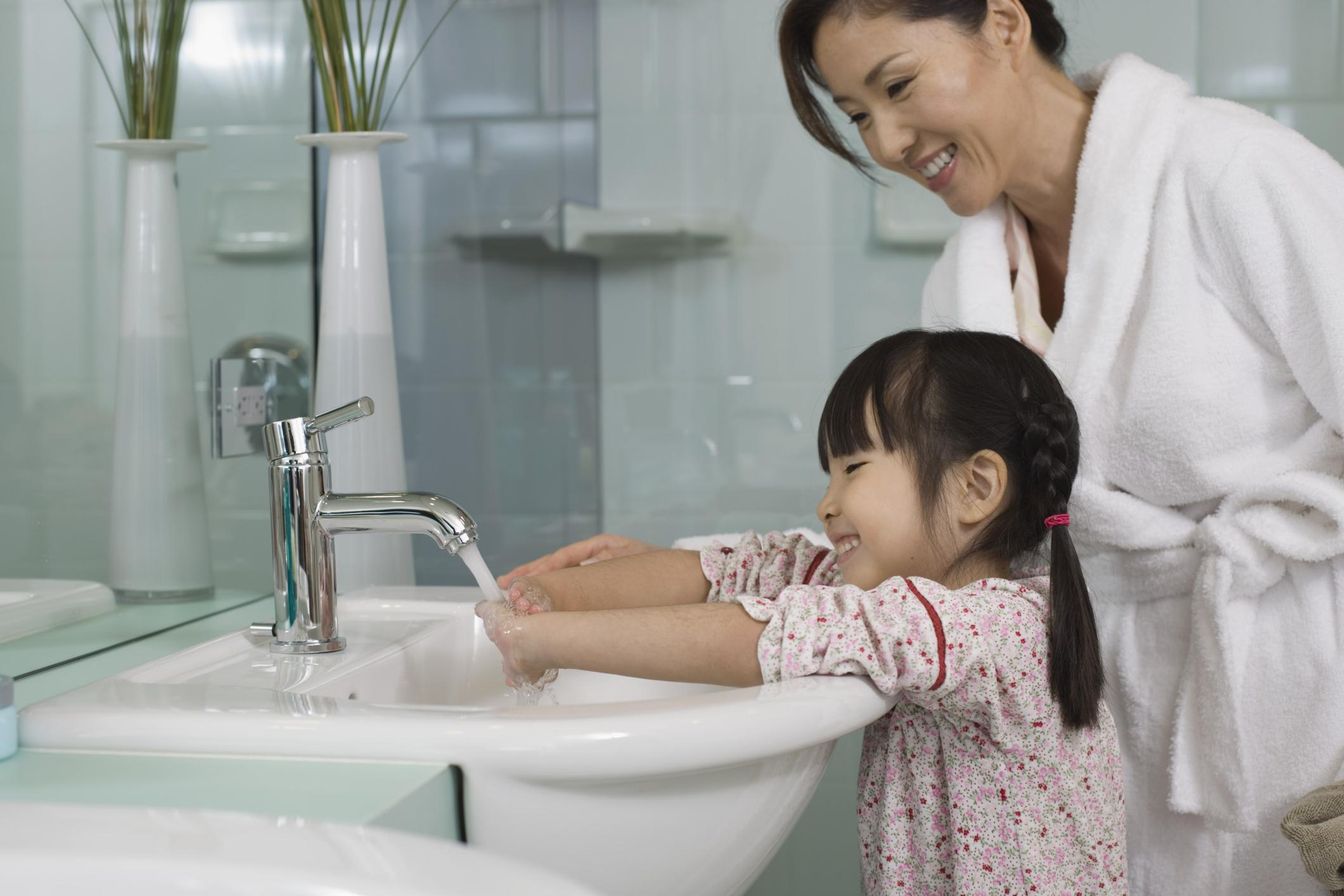 using the bathroom.  Hand Washing After Using Bathroom Vs Sanitizer LIVESTRONG COM