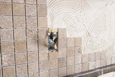 How To Install Tile Backsplash Sheets Around Power Outlets