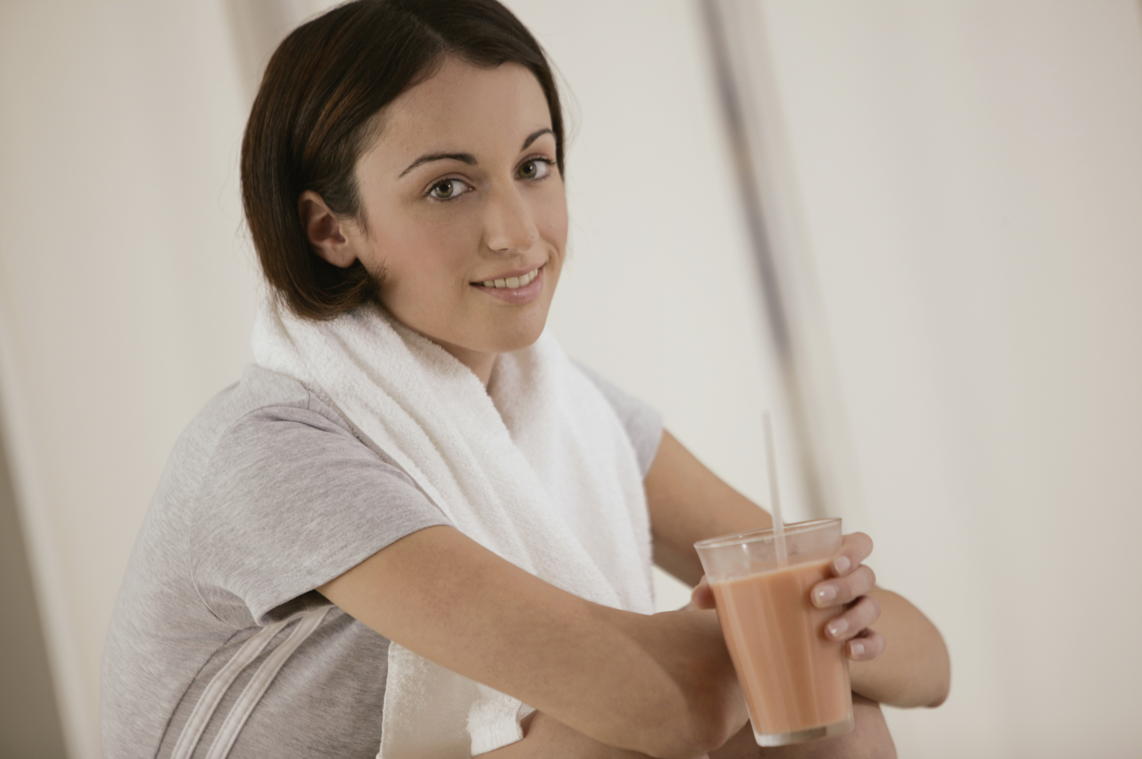 Make your protein drink with whey protein isolate for less lactose.