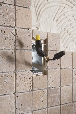 how to cut wall tile around outlets