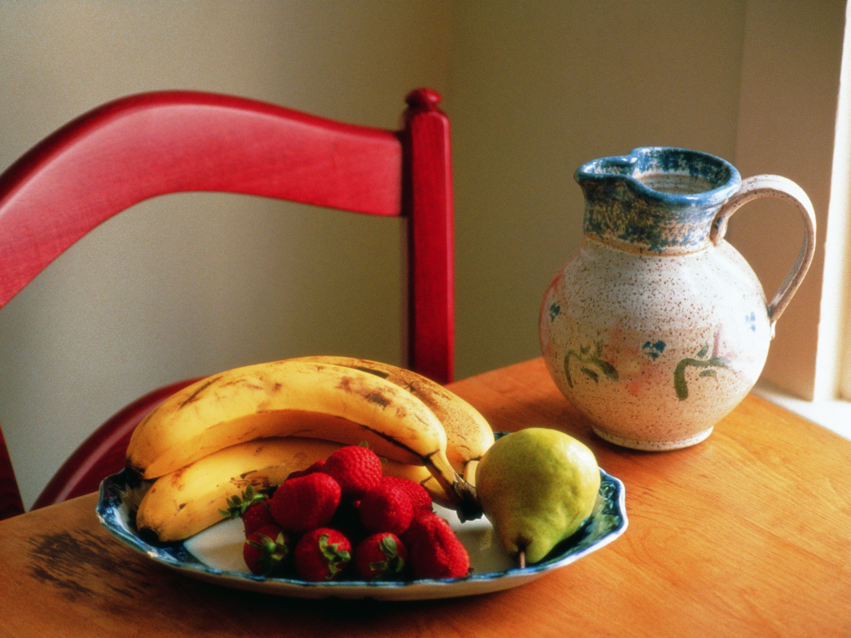 Strawberries and bananas provide insignificant amounts of protein.
