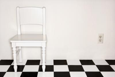How To Install A Black Amp White Checkered Vinyl Floor