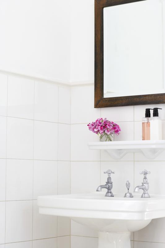 Can I Frame A Bathroom Mirror Without Removing It From The Wall Home Guides Sf Gate
