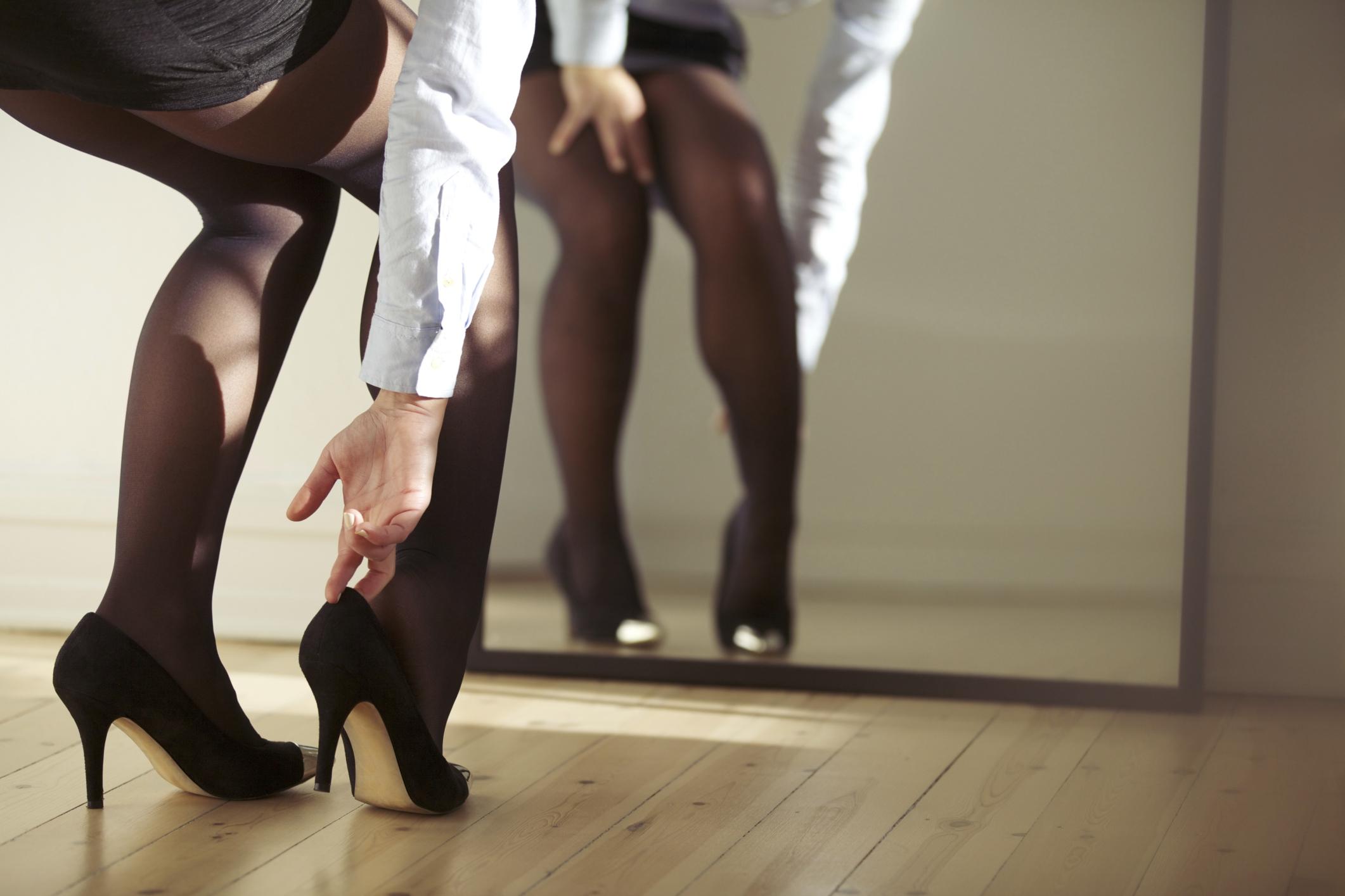 In older nylons women Nylons: Through