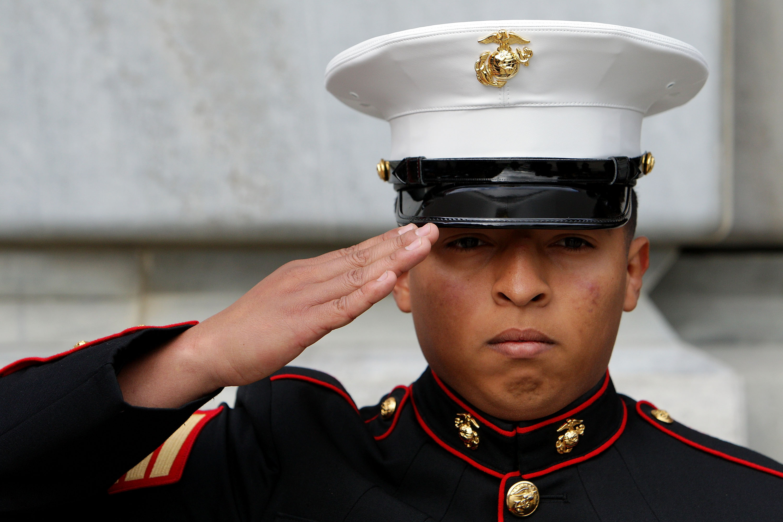 How to Attach the Belt on a Blue Marine Dress Uniform