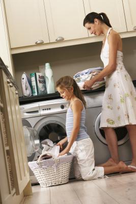 C mo esconder una lavadora y un secador en una cocina - Lavadora secadora pequena ...