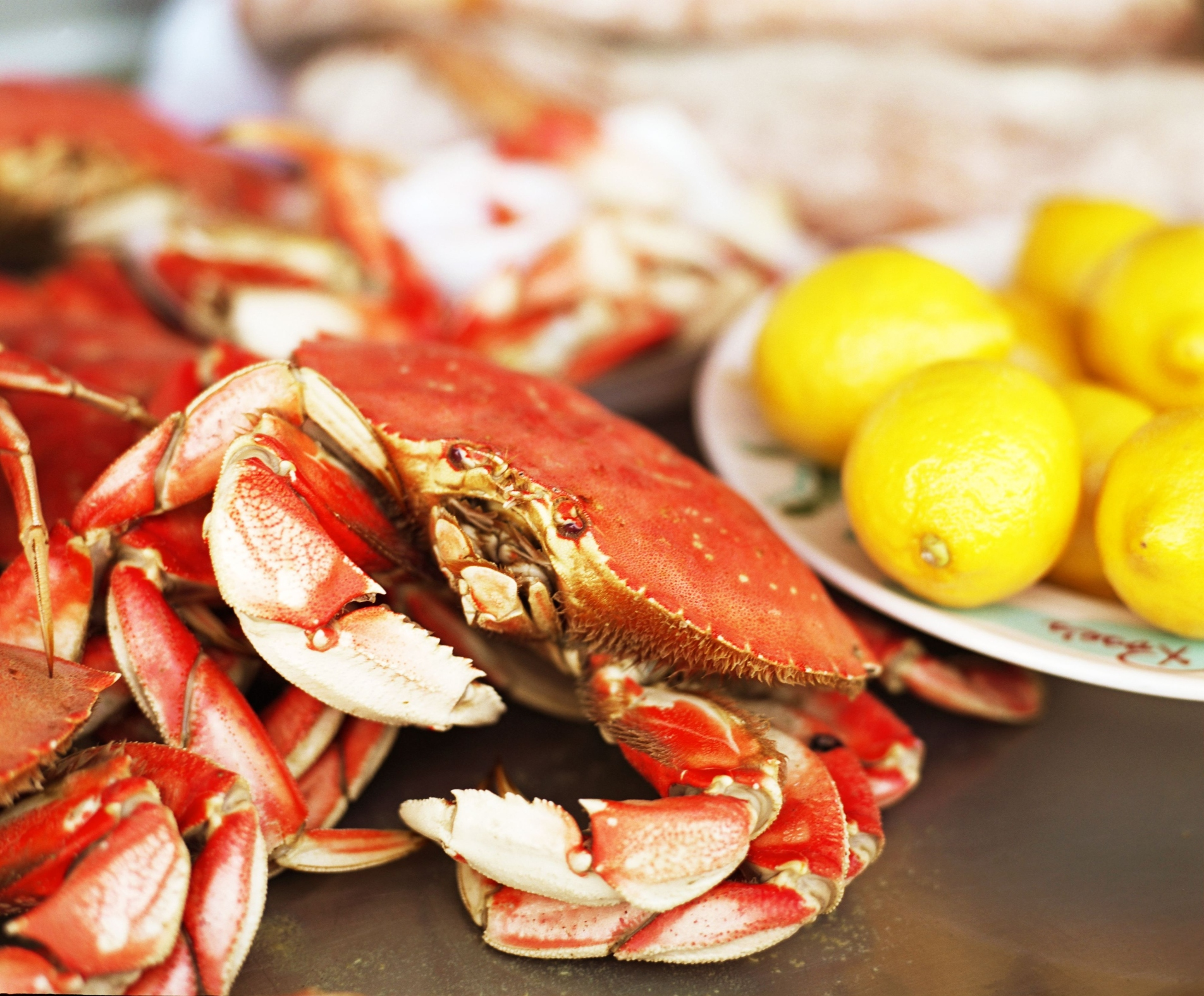 Seafood smells more appetizing with lemon juice.