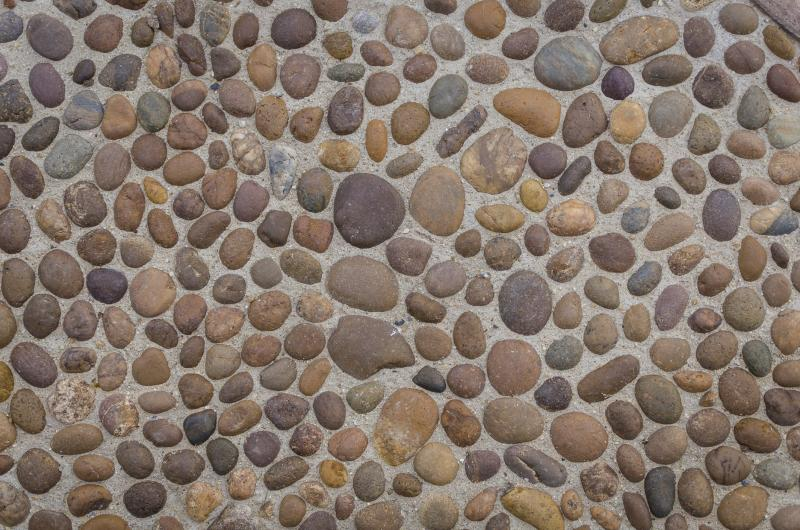 What To Use Clean Pebble Rock Flooring
