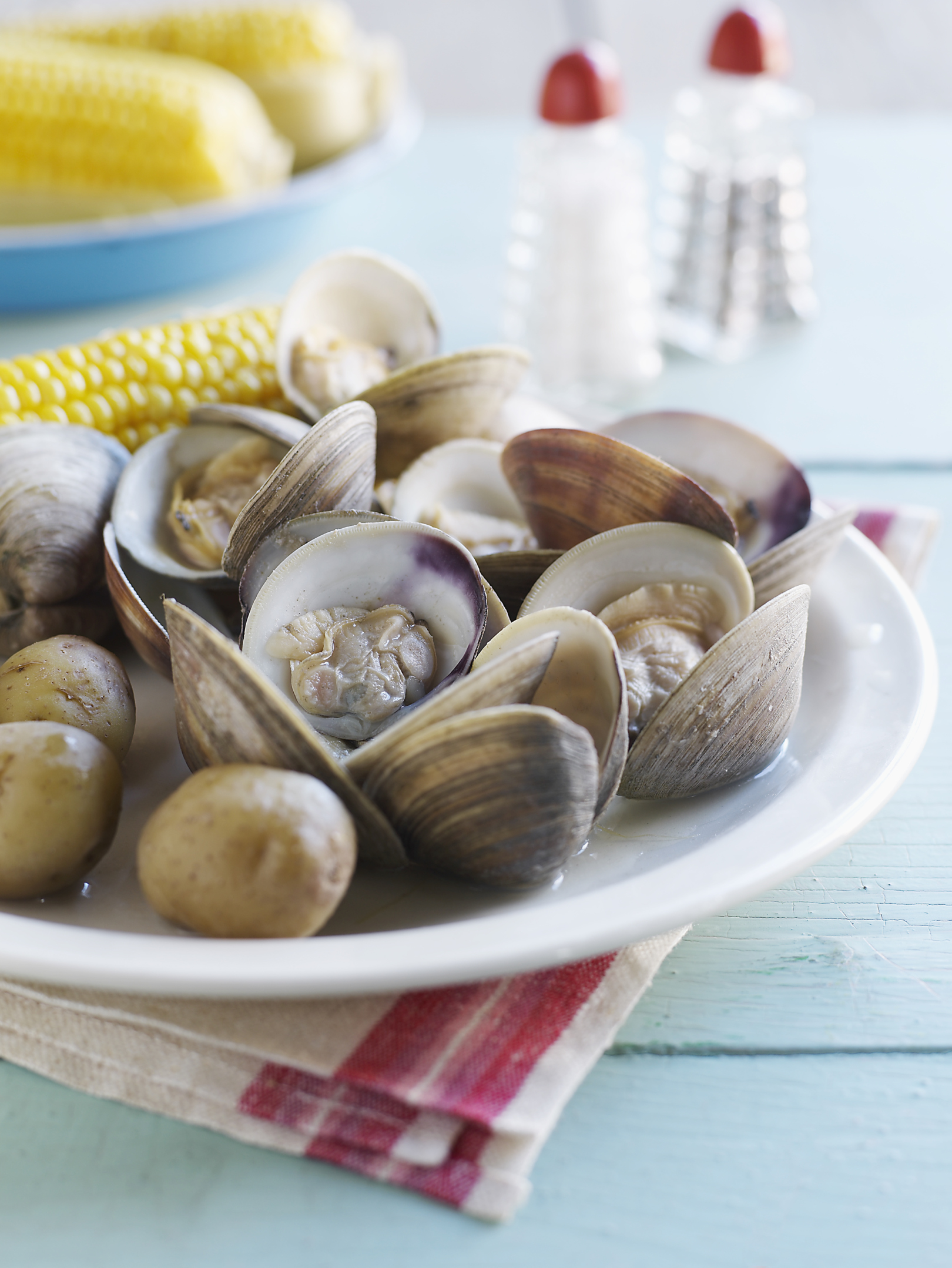 Clams are king for B-12 content.