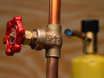 Copper pipes corrode quickly from acidic water.