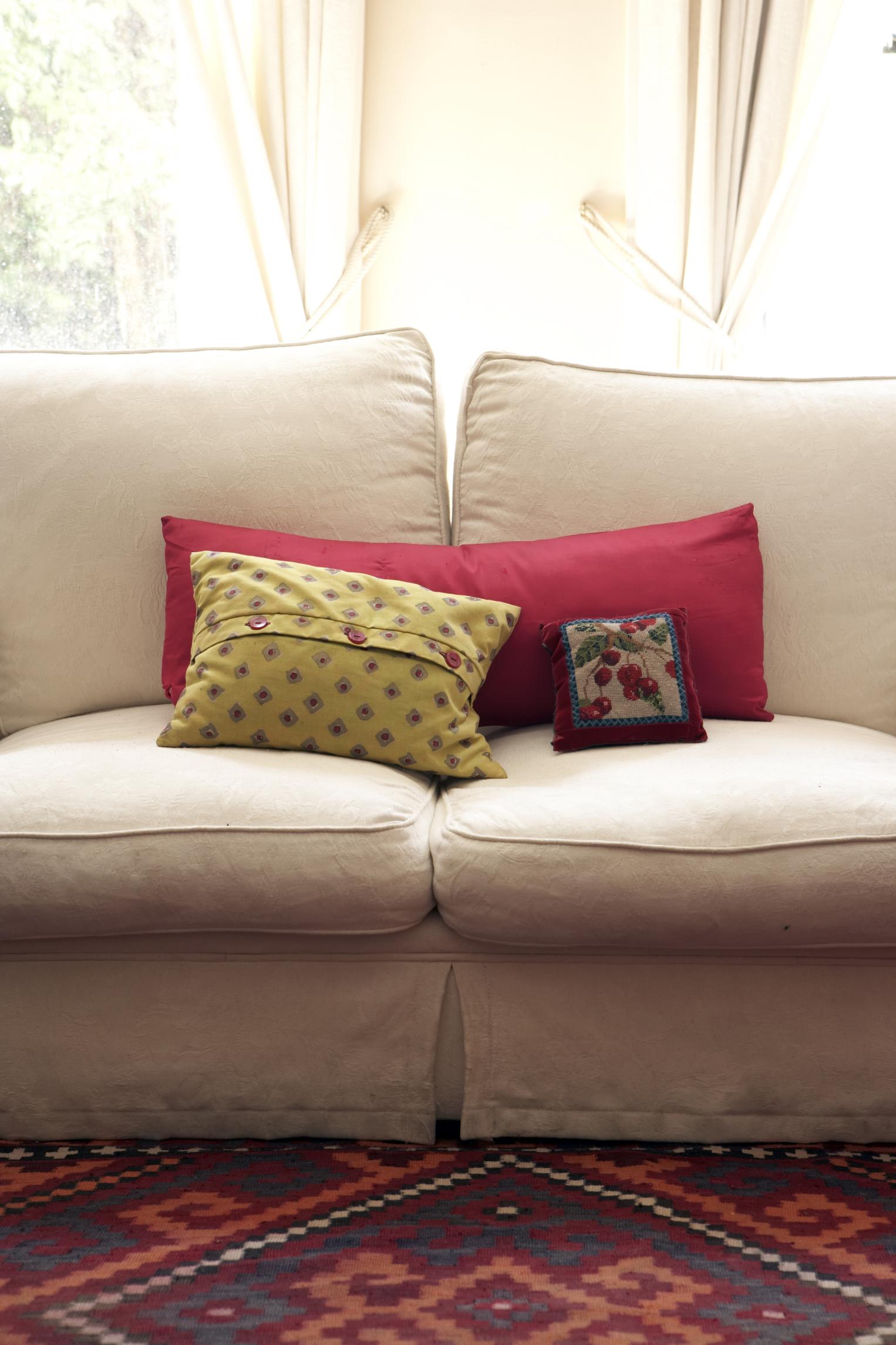 Telas para cojines de sofa en la funda para sof cama clic clac modelo carol usamos un diseo - Tela para sofa ...