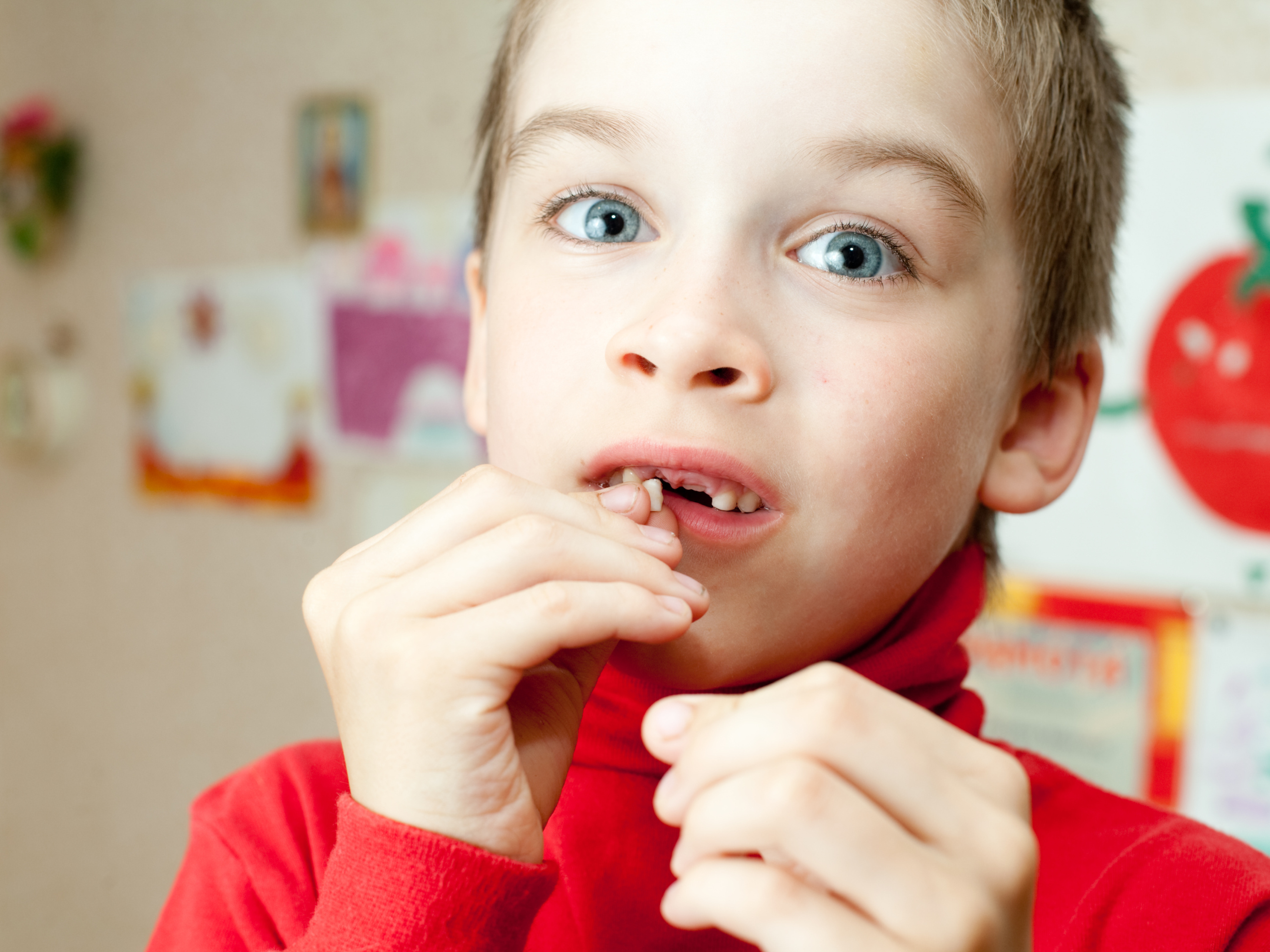 How to understand when teeth are chopped off in children