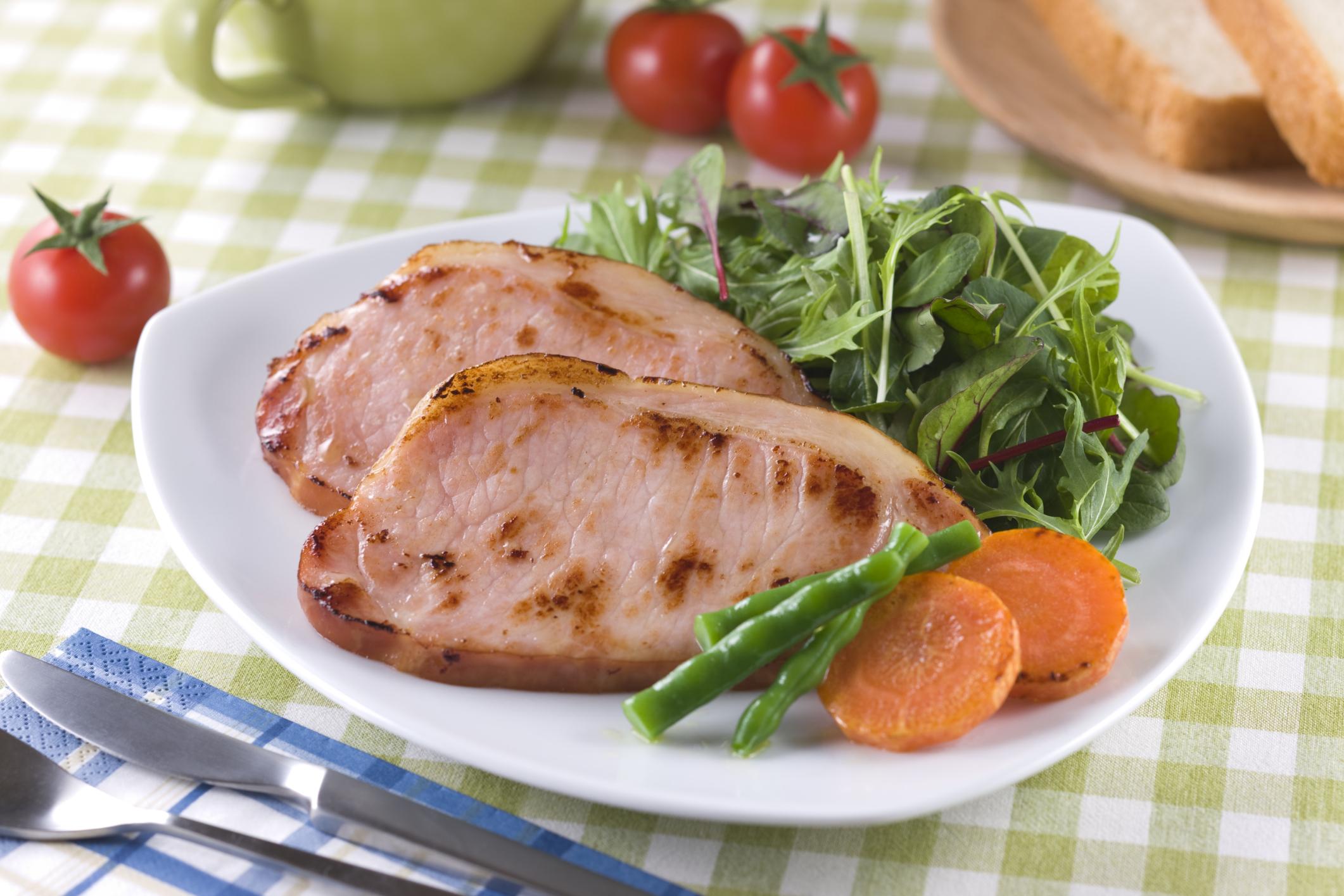 how to cook frozen ham slices