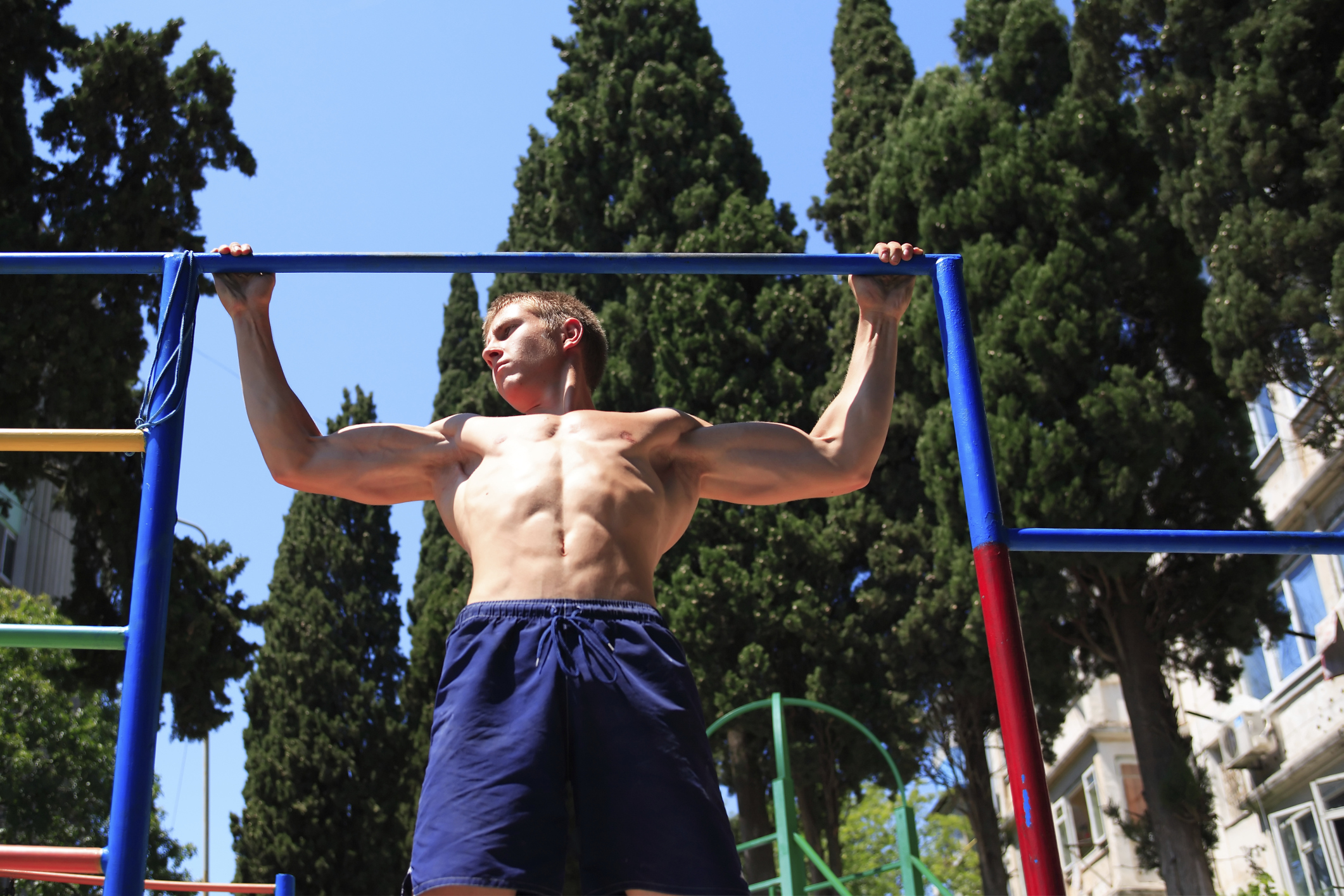 Negative pull-ups are a complicated exercise option