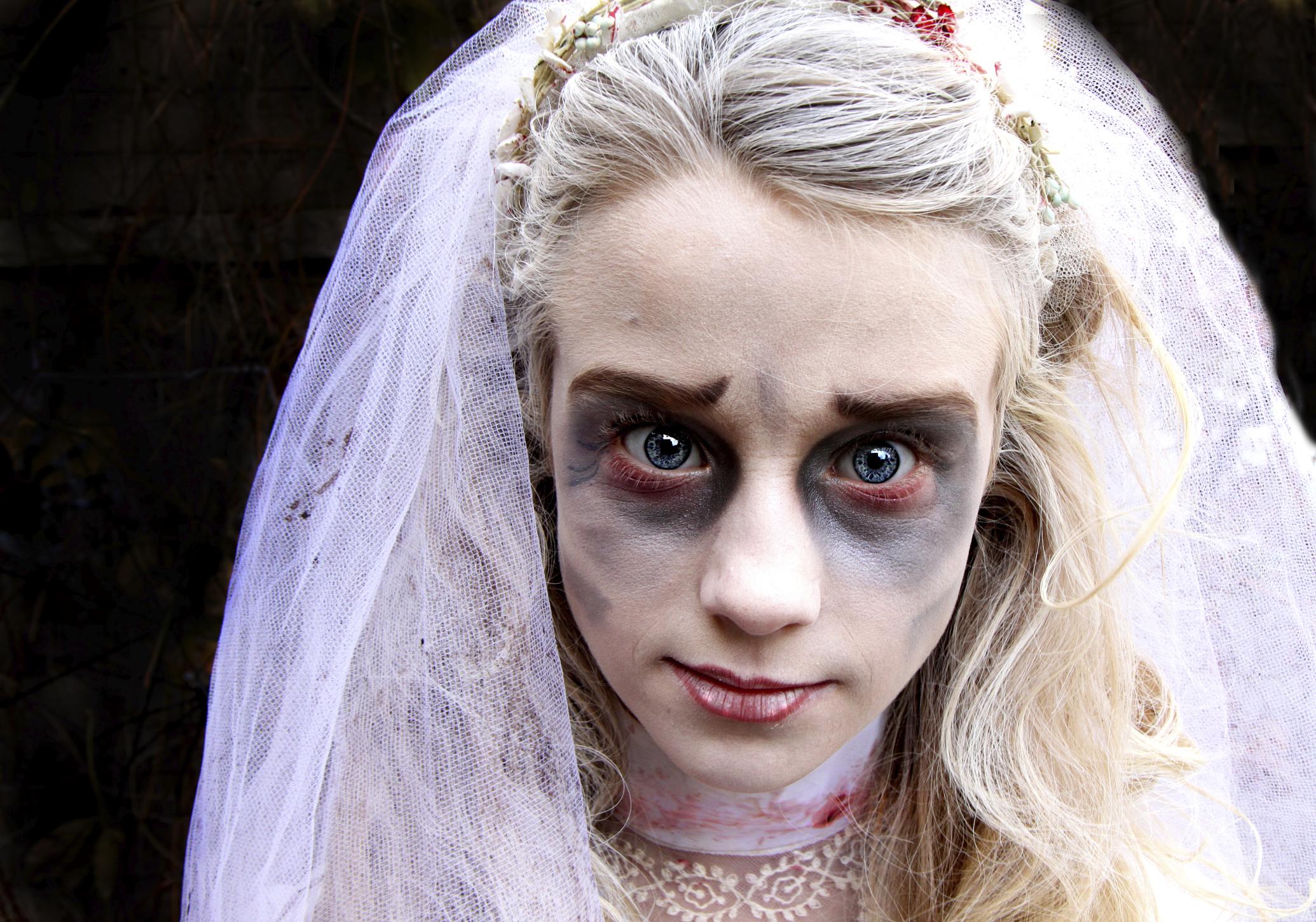 Cmo hacer el maquillaje de novia muerta para un disfraz de Noche de